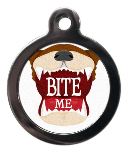 Pet ID Tag  Bite Me